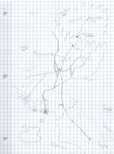 This was my first doodles map of my new world.